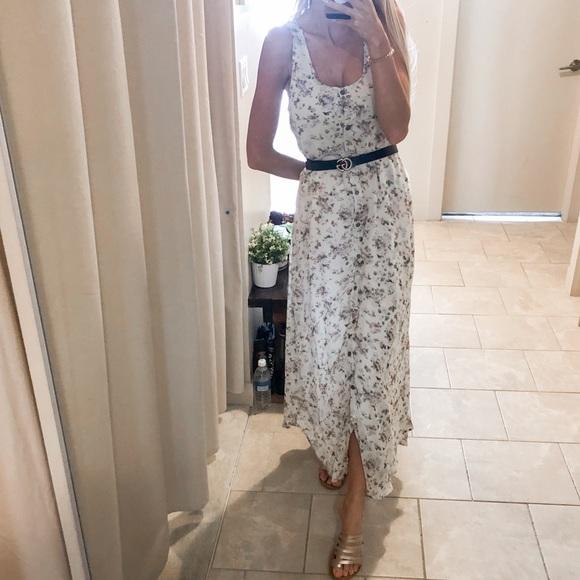 MINKPINK Cream Floral Maxi Dress